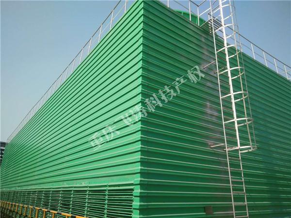 新建1000m3/h钢框架结构水能风机填料冷却塔群