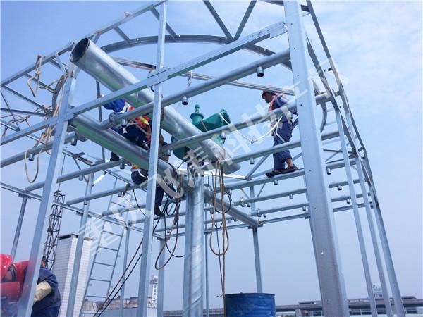 新建SNJWNT-700m3/h×6钢结构水能风机喷雾冷却塔