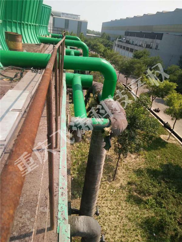 冷却塔改水能风机现场施工