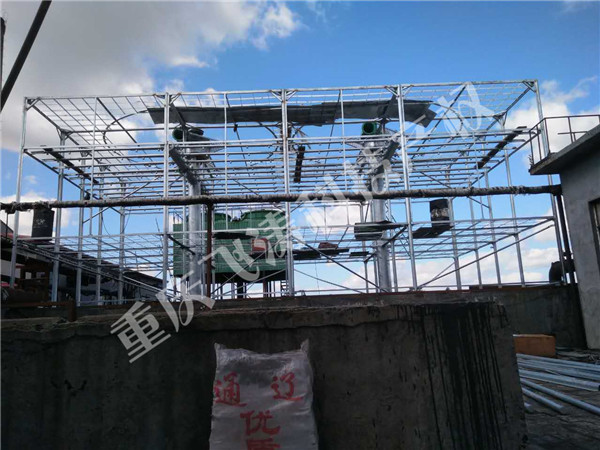 新建SNJ1500X2水能风机填料冷却塔(现场施工照片)
