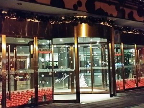 福建省西湖賓館兩翼自動旋轉門安裝