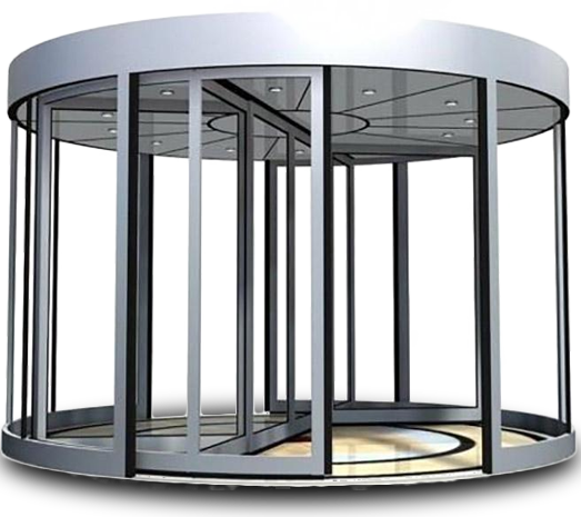 弧形旋转门独具一格,给您安全的体验