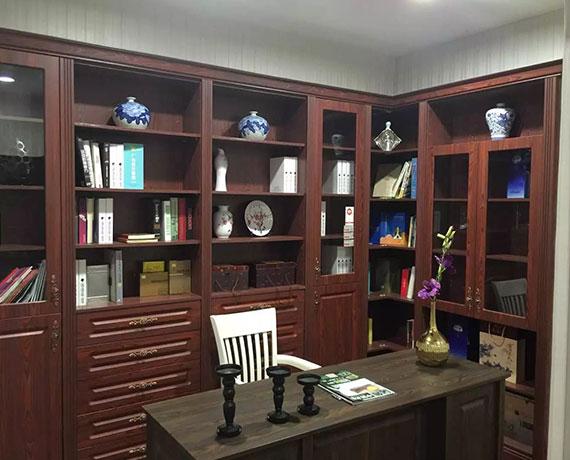 中式整体书柜