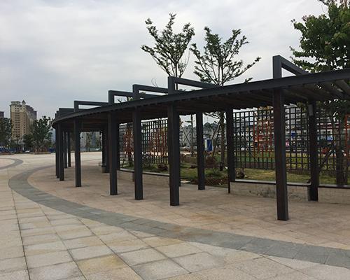 福州景观钢结构廊架