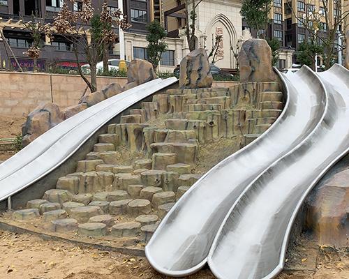 小区不锈钢滑梯