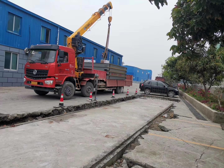 福建闽信建材3*16米120吨汽车衡安装
