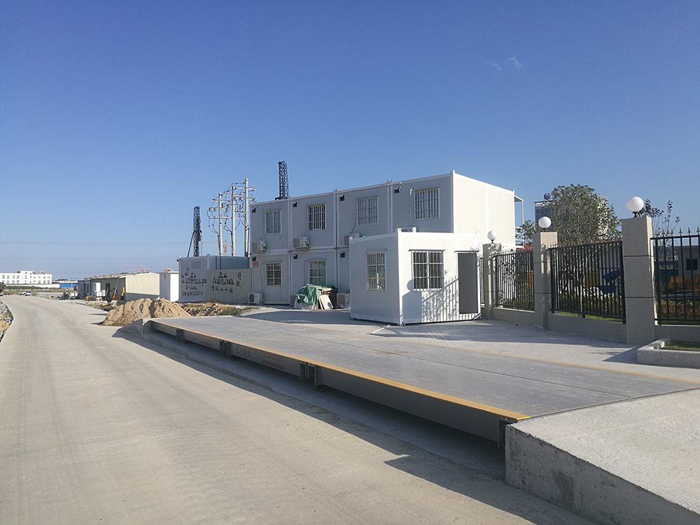 福州一建长乐项目16米120吨电子地磅