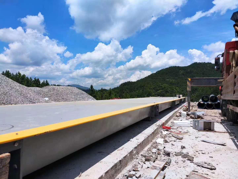 宁德养殖场 3*16米 100吨地磅安装完成