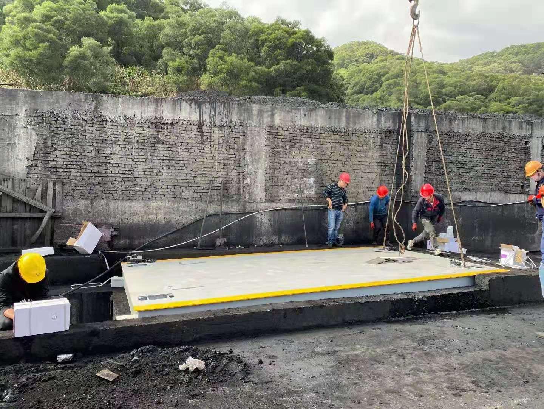 福州马尾闽安煤码头3*16米电子数字地磅安装