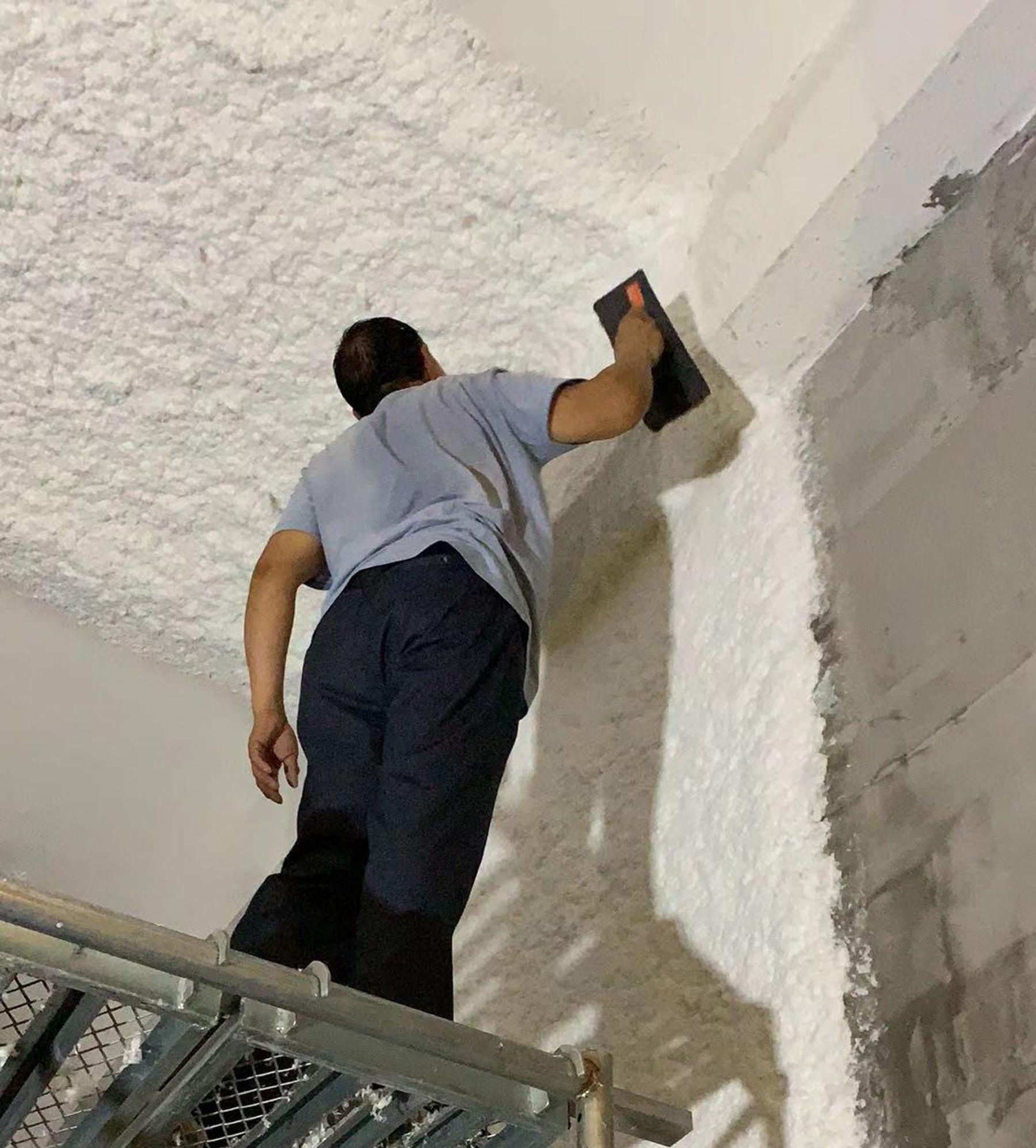 福州融侨江南水都5C项目设备房天棚墙面降噪工程