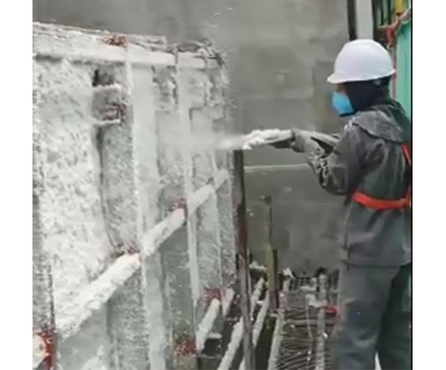 无机纤维喷涂的施工要点