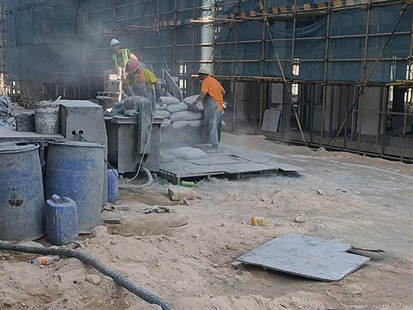 盛辉物流屋面保温发泡混凝土施工