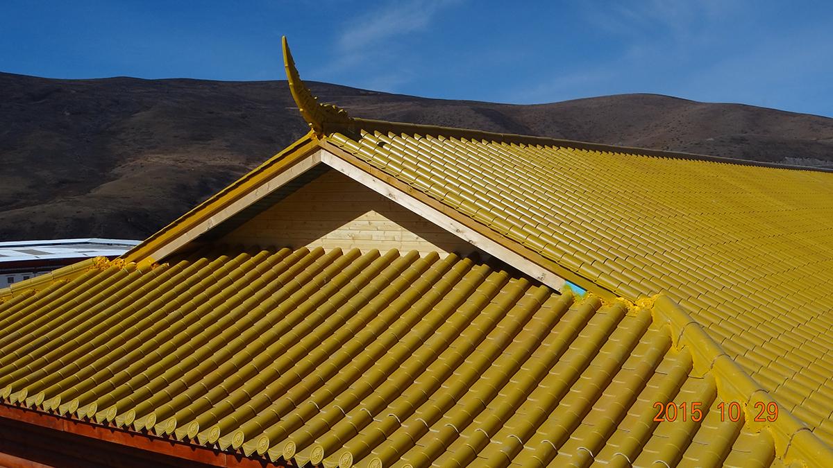 寺庙屋顶瓦
