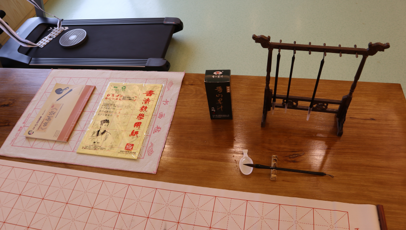 养老院书法桌