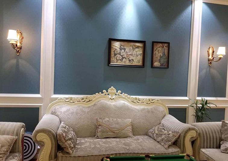 室内客厅艺术漆施工完成效果展示