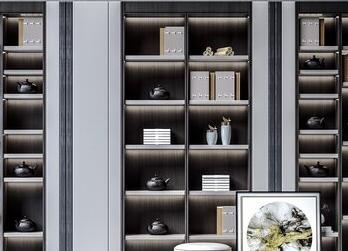 新中式书柜组合