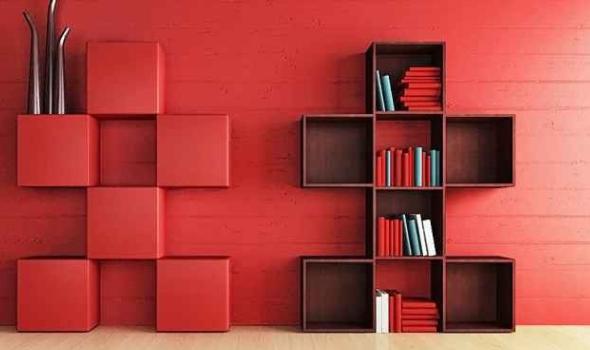 创意书柜组合