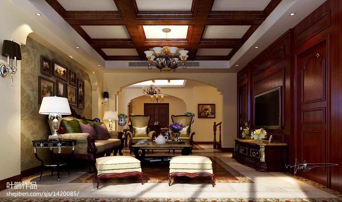 美式風格別墅家具設計