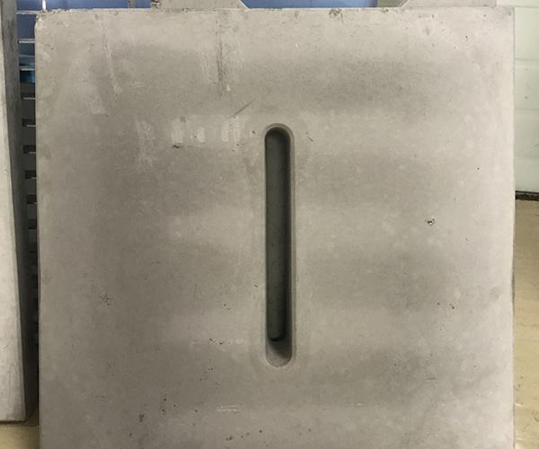 中间开孔水沟盖板