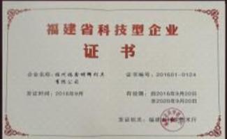 福建省技术型企业