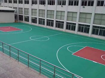 晋江市单位室外篮球场PVC