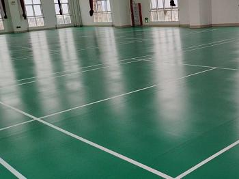 福建某监狱单位室内羽毛球馆pvc运动地板案例