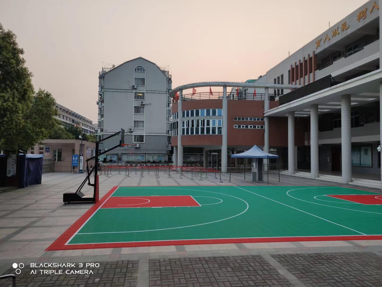 室外篮球场悬浮地板案例