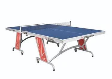 703(蓝色)单折移动式乒乓球台