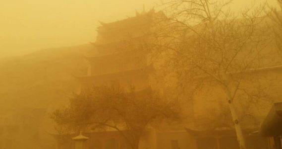 福州涂装厂家:甘肃遭遇大风沙尘暴