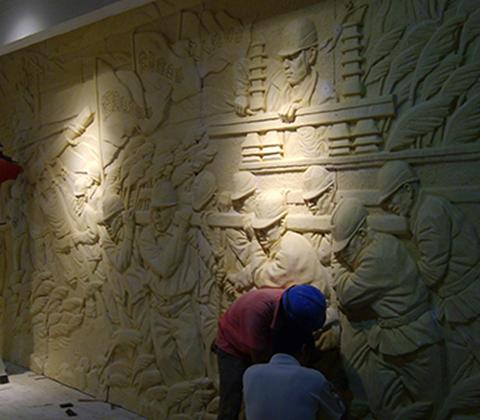 福州砂巖浮雕