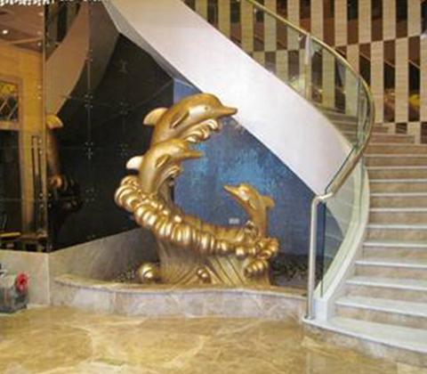 玻璃鋼海豚雕塑擺件