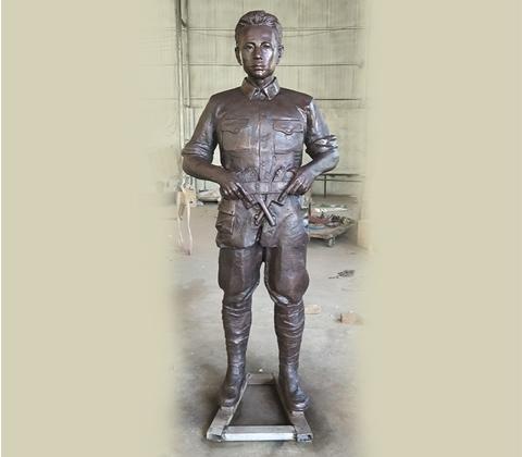 名人雕塑擺臺參觀