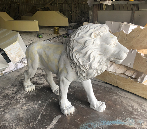 獅子擺件石雕雕塑