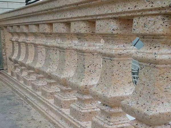 仿石漆欄桿