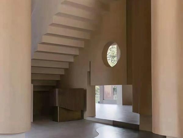 藝術樓梯微水泥漆