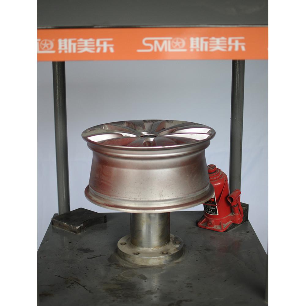 重型立式合金车轮矫直修复机