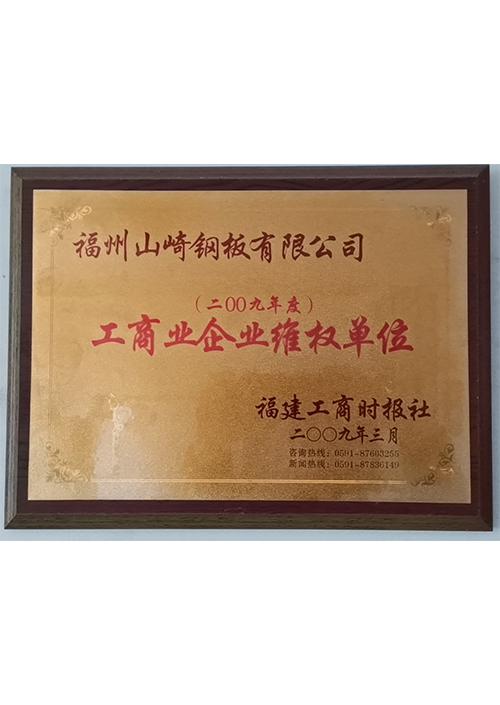 2009年度工商业企业唯权单位