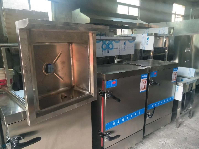 商用不锈钢厨房蒸饭柜完工!