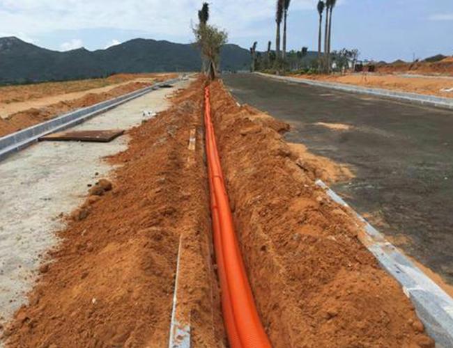 路灯基础电缆套管安装