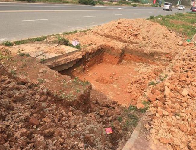 路灯箱基础开挖