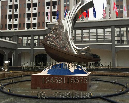 福州不锈钢圆形雕塑