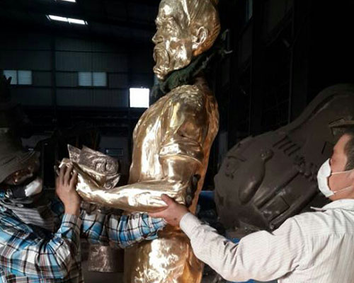 福州中铁二局鲁班铸铜雕塑