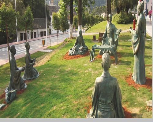 校园仿青铜雕塑