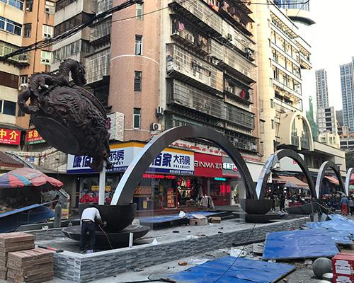 文化街创意雕塑