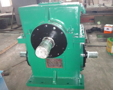 Cooling bed main drive turbine box