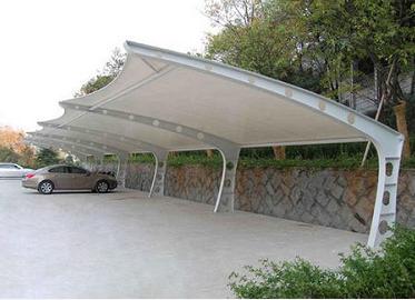 钢结构户外停车棚