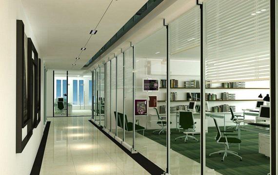 在西安办公的话,办公室这样做隔断,空间增加了好多倍