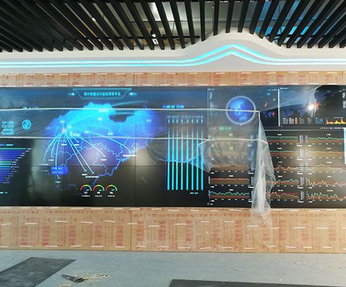 城市商业银行49寸液晶拼接屏