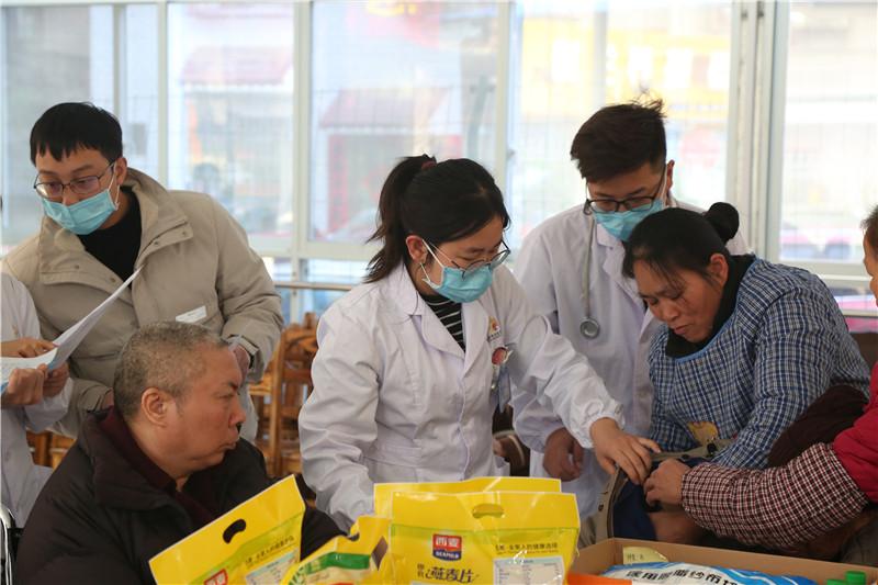 桂林惠福养老院体检现场