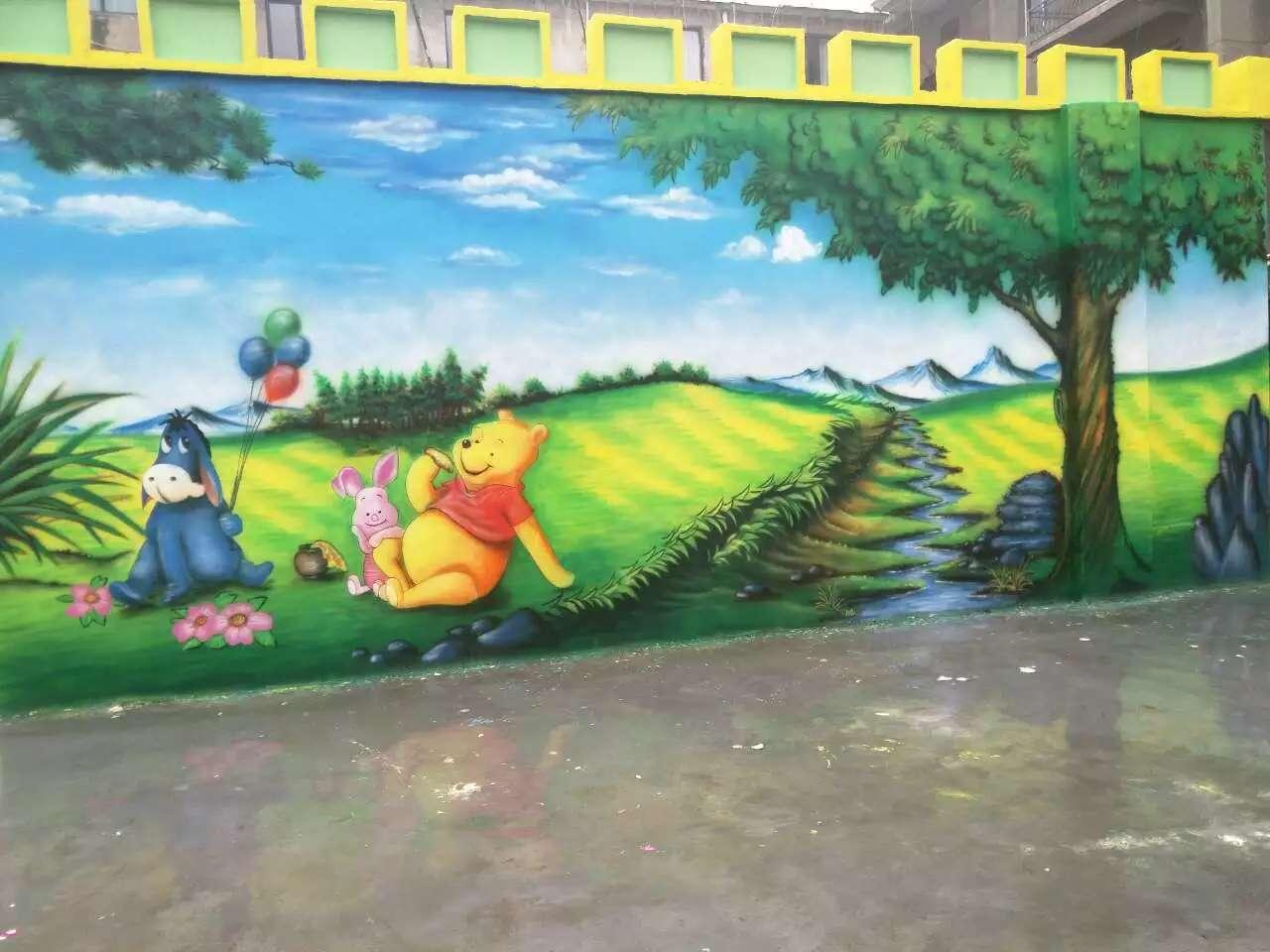 幼儿园外墙彩绘图片